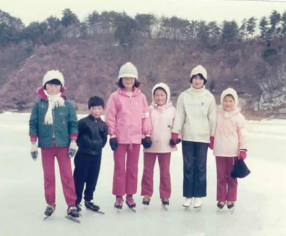 須川湖スケート